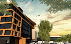 Büroneubau Flughafen Leipzig-Halle - Ansicht frontal